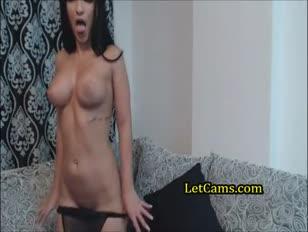 Gigantyczny tyłek camgirl analtoying i obrysy na kamerę internetową
